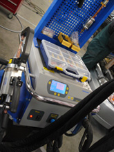 Image of Wiseman's new High tech Welding machine