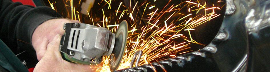 Work sending out sparks